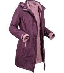 giacca tecnica 3 in 1 con cappuccio (viola) - bpc bonprix collection
