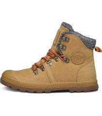 botas marrón claro palladium 95140-278