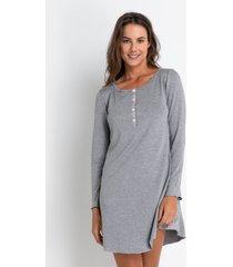camisola manga longa acuo camisola manga longa cinza - cinza - feminino - dafiti