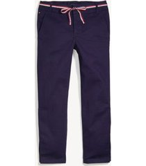 tommy hilfiger girl's adaptive ribbon belt skinny pant evening blue - 8