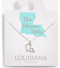maurices womens dainty louisiana necklace gray