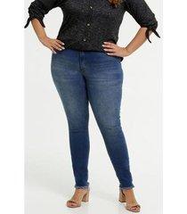 calça jeans plus size biotipo skinny feminina