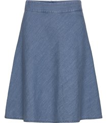soft indigo stelly c knälång kjol blå mads nørgaard