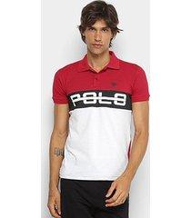 camisa polo rg 518 recortes masculina