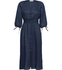 jules linen dress dresses everyday dresses blå morris lady