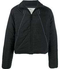 a-cold-wall* piped-trim padded jacket - black