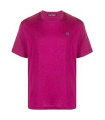 acne studios camiseta de algodão - rosa