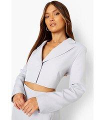 mix & match monochrome korte blazer, lilac grey