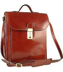 l.a.p.a. designer briefcases, cognac leather vertical briefcase