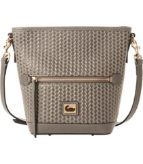 dooney & bourke camden woven leather crossbody bag