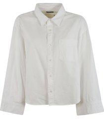 oversize sleeve cropped shirt