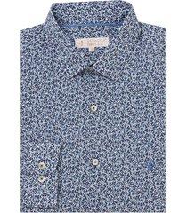 camisa dudalina manga longa tricoline estampa liberty masculina (estampado, 6)