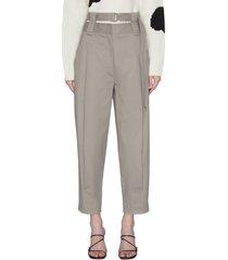 'myriam' buckle belt double waisted pants