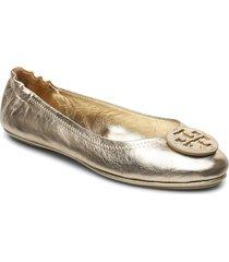 minnie travel ballet with leather logo ballerinaskor ballerinas guld tory burch