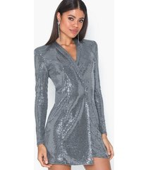 nly one sequin blazer dress paljettklänningar