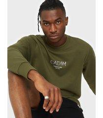 calvin klein calvin small logo sweatshirt tröjor green