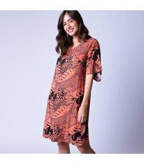 vestido curto estampa gemma mercatto feminino