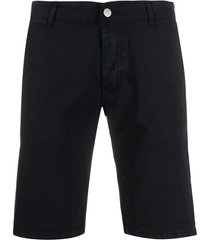 daniele alessandrini slim fit chino shorts - blue