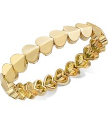 kate spade new york gold-tone, silver-tone or rose-gold tone heart stretch bracelet