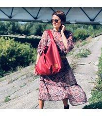duża torba worek mc7 - czerwona