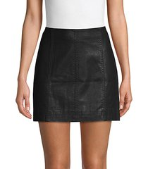 modern femme vegan leather mini skirt