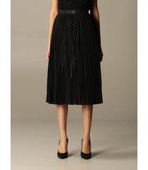 armani exchange skirt armani exchange skirt in pleated lurex fabric