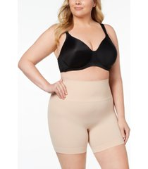 spanx women's plus size everyday shaping panties mid-thigh short 10149p