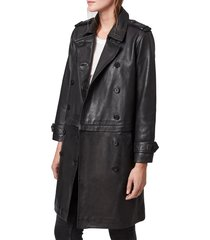 women's allsaints trae convertible leather coat