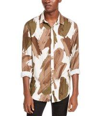 inc men's paint stroke shirt, created for macy's