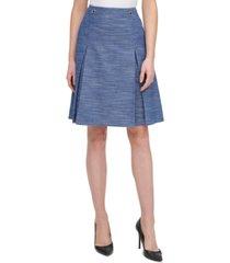 tommy hilfiger a-line button-trim skirt