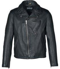 schott nyc men's hand vintage like cowhide motorcycle jacket