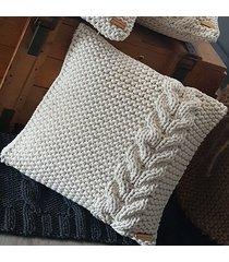 poduszka norway warkocz ze sznurka bawełnianego