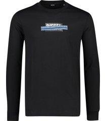 diesel t-shirt zwart lange mouwen