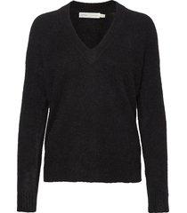 papinaiw vneck pullover gebreide trui zwart inwear