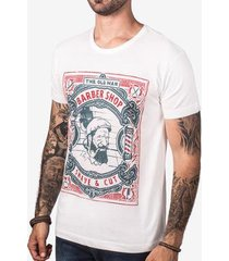 camiseta hermoso compadre the old man barber masculina