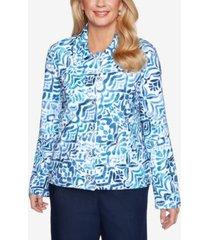 alfred dunner women's missy classics ikat print jacket
