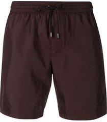 dolce & gabbana drawstring waist swim shorts - brown