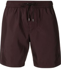 dolce & gabbana drawstring waist swim shorts - brown