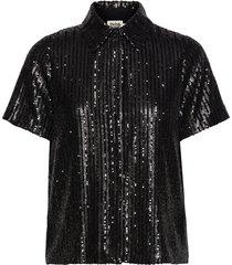 britta sequin dress blouses short-sleeved svart twist & tango