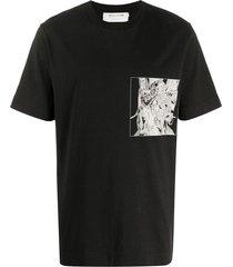 1017 alyx 9sm grid graphic print t-shirt - black