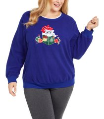 alfred dunner plus size appliqued kitten top