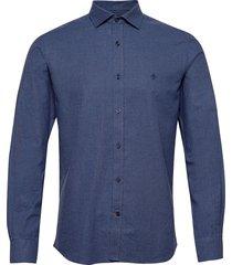 alton spread collar skjorta casual blå morris