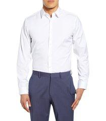 men's theory sylvain slim fit button-up dress shirt, size x-large - white