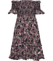 majestic dress knälång klänning multi/mönstrad odd molly