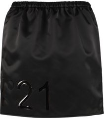 n.21 technical fabric mini-skirt with logo