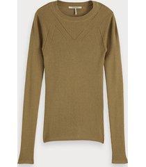 scotch & soda rib knitted sweater