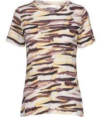 almaiw t-shirt t-shirts & tops short-sleeved multi/mönstrad inwear