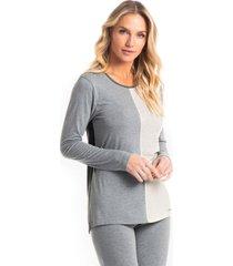 pijama longo legging mármore