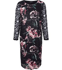 jurk m. collection zwart::roze