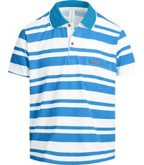 camiseta tipo polo azul turquesa puntazul con bolsillo